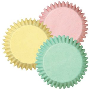 Assorted Pastel Colors Baking Cups